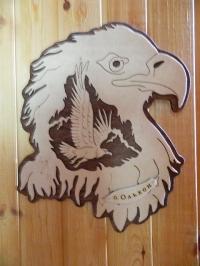 Панно дерево орел